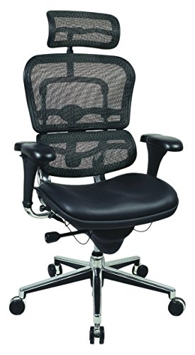 Ergohuman High Back Mesh Executive Chair, Black