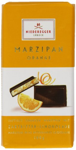 Photo of Niederegger Orange Chocolate Marzipan Bar 100 g (Pack of 2)