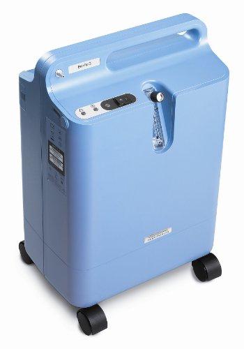 Philips Respironics Everflo - Concentrador de oxígeno (350 W, 0.5-5 l/min, 5.5 PSI), color azul claro