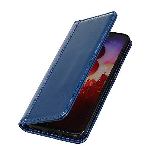 Brand Set ZTE Axon 10 Pro 5G Hülle Brieftasche Handyhülle Kunstleder Flip Hülle mit sicherer Magnetverschlussverriegelung & Stent-Funktion,Handyhülle für ZTE Axon 10 Pro 5G(Blau)