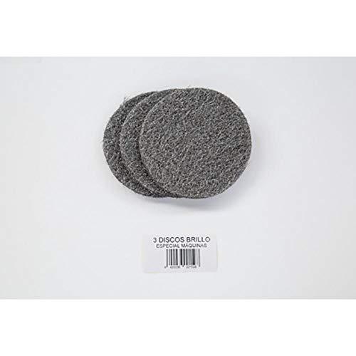 AKRON 4311 Pack 3 Discos de Lana de Acero para Abrillantadora Manual, Diámetro 12 cm