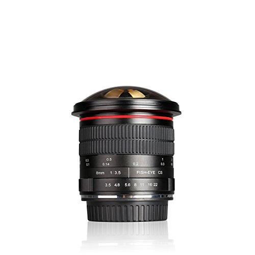 Meike 8mm f 3.5 Ultra Wide Angle Manual Focus Rectangle Fisheye Lens for APS-C DSLR Nikon D500 D3200 D3300 D3400 D5200 D5300 D5500 D5600 D7100 D7200 D7500 DSLR Cameras