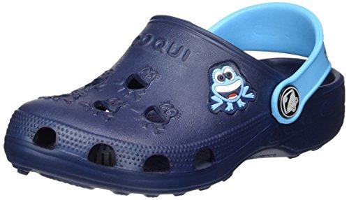 Coqui Kinder-Sandalen/-Clogs Kleiner Frosch, Jungen, marineblau/blau, 25-26