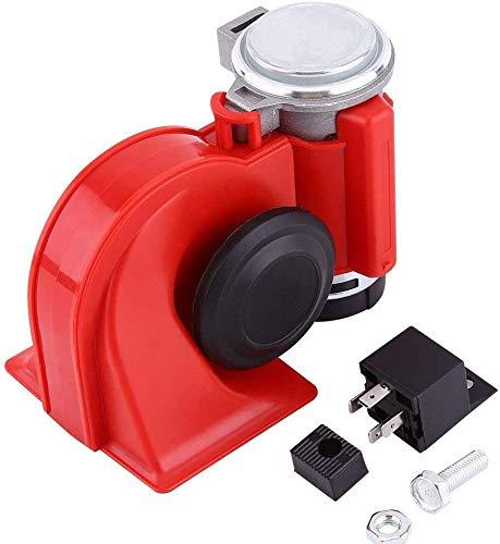 Auto slak luchthoorn 12 V 130 dB compacte trompet super luide luchthoorn slak elektrische sirene met luchtpomp compressor voor auto vrachtwagen SUV boot motorfiets