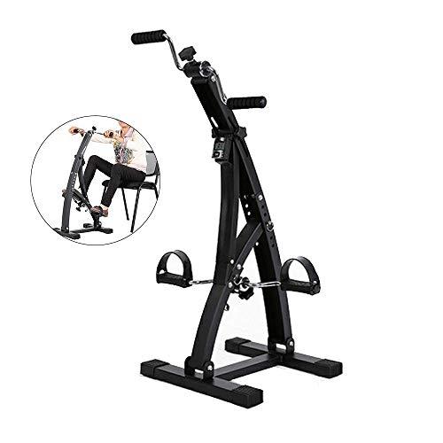 ZY Multifunzionale Mini Cyclette Anziani Ginnico Bicicletta sotto Desk Ciclo per Gambe E Braccia Cardio Training, Resistenza Regolabile con Monitor