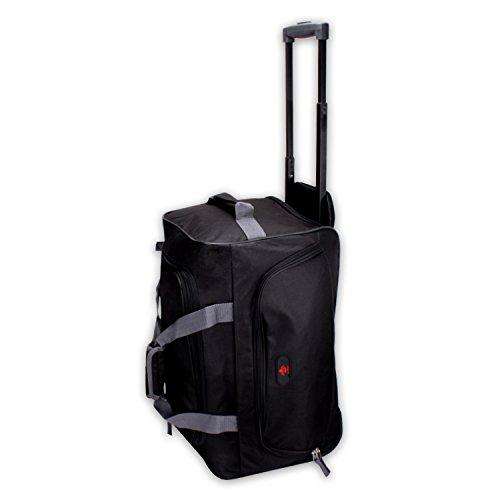 Reisetrolley Modell BlackTravel-S 52cm Koffer Rolltasche Sporttasche 40l (schwarz/grau)