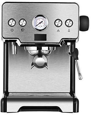 Coffee machine Máquina de café de la máquina de café, máquina de café espresso, máquina de café de acero inoxidable, 15 barras, cafetera italiana comercial semiautomática, regalos para los amantes del
