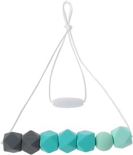 Ncbvixsw Baby Teething Necklace Safty Silicone Beads Nursing