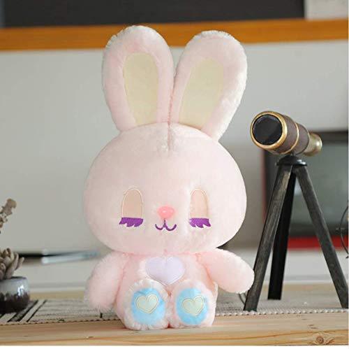 ahzha Plüschtier Niedlichen Kaninchen Bär Kawaii Tier Puppe Weiche Qualität Baby Schlafen Geburtstagsgeschenk Mädchen Kind Dekoration Beschwichtigen 35X40 cm