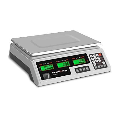 Steinberg Balanza De Control Báscula SBS-PW-402CS (Rango De Pesaje: 5 g - 40 kg, Precisión De 2 g, 7 Memorias, 33,9 x 23,3 x 0,6 cm)