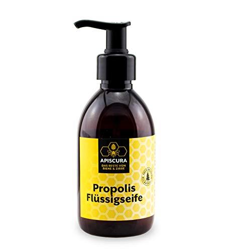 APISCURA Propolis Flüssigseife |reinigende & feuchtigkeitsspendende Seife | 100% natürlich | Made in Austria | 250ml