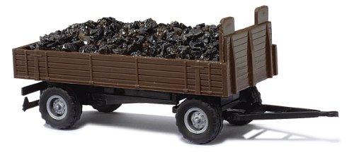 Busch 44919 - Anhänger mit Ballonreifen Kohletransport