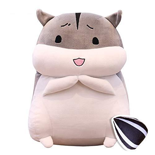 Ycco Netter Fetter grauer Hamster Plüsch-Kissen-Spielzeug-Kind-Schlafenszeit Tiere Plüschplüschtiere Dekokissen Hugging Toy Lustige Cuddle Bett, Sofa, Plüsch-Spielzeug-Puppe for Kind-Mädchen-Jungen-Pa