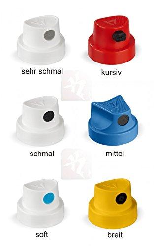 Ersatzsprühköpfe alle Strichbreiten - 12 Spray Caps