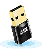 WiFi 無線LAN 子機 AC600 433+ 200Mbps 2.4G/5Ghz 11ac対応 USB2.0 WiFi 子機 WiFi USB アダプター WiFi Adapter デュアルバンド 無線子機 5g 高速 11ac/n/a/g/b Windows/Mac OS/Linux 対応 【TELEC認証済(認証番号:204-720397)】