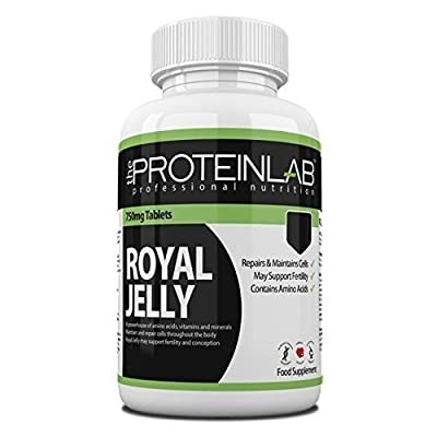 The Protein Lab Royal Jelly 750 mg Capsule Tablet Rich in Vitamins Minerals and Trace Elements Vitamin Sample Pack 14