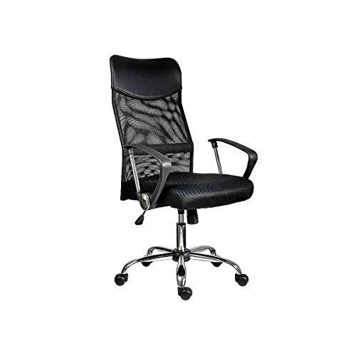 Certeo Bürostuhl TENNESSEE | mit Armlehnen | Schwarz | Drehstuhl Schreibtischstuhl Computerstuhl höhenverstellbar