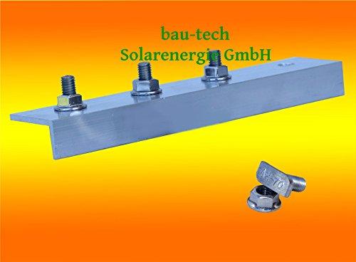 4 Stück Profil Verbinder ALU für Solar Photovoltaik PV Montage Profil Schiene von bau-tech Solarenergie GmbH
