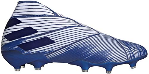 adidas Nemeziz 19+ Firm Ground Soccer Cleat (9 Men's US) White/Royal Blue