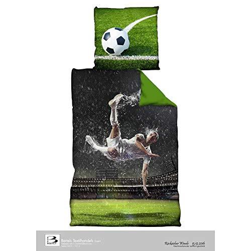 Fußball Bettwäsche *** Rückzieher *** 135x200cm / 80 x 80 cm