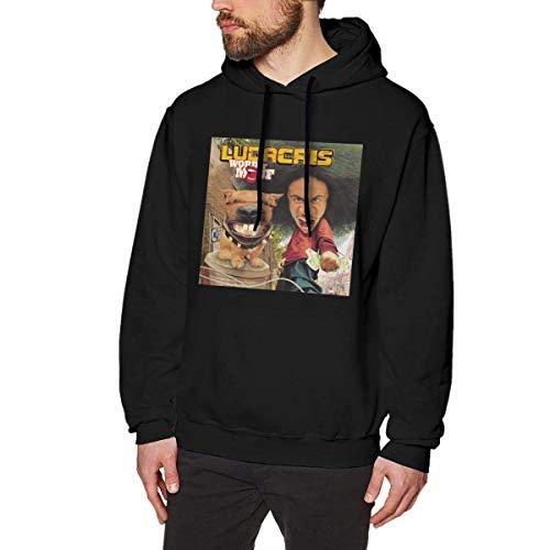 Maichengxuan Sudadera con capucha para hombre, con estampado 3D, Ludacris Word of Mouf, informal, de manga larga, con capucha, color negro