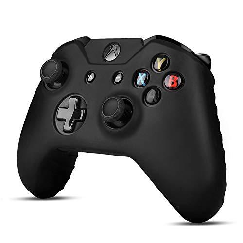 TNP - Custodia per controller Xbox One (nero) – Custodia protettiva in gomma gel di silicone morbido per Xbox One Wireless Gamepad Controller [Xbox One]