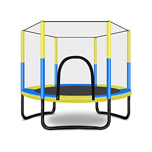 XuZeLii Trampolín Trampolín de 60 Pulgadas con trampolín Interior o Exterior para niños. Adecuado para Entrenamientos De Estudio (Color : Multi-Colored, Size : 125x150cm)