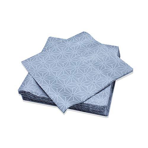 Le Nappage - Servilletas decoradas Starlight Silver - Servilletas de papel en...