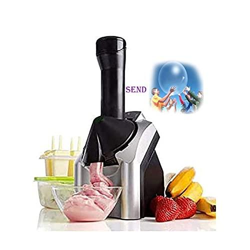 SKYWPOJU Máquina de Postre Congelada de Lujo, Diseño de Cromo Premium, Servicio Suave de Frutas Lácteas Es Una Alternativa Vegana Al Helado BPA para Niños o Adultos