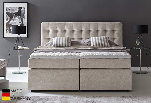 Furniture for Friends Möbelfreude® Premium Boxspringbett Perris | 160x200 cm Moonrock H3 | mit hochwertigen Tonnen-Taschenfederkern Matratzen & Viskose-Topper | Made IN Germany*
