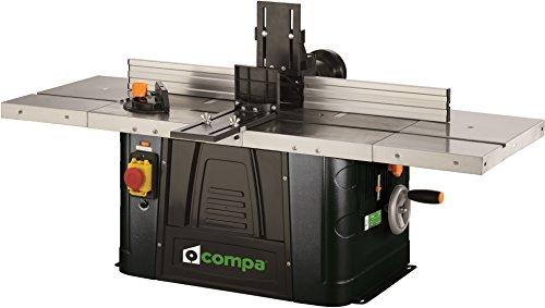 Tischfräsmaschine mit Arbeitsfläche und Geodreieck aus Aluminium 1500W, Compa TV40.