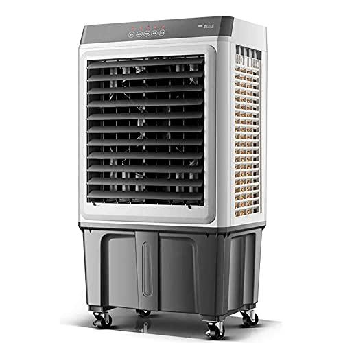 Enfriador evaporativo de grado industrial con control remoto - enfriamiento por aire portátil 3 en 1, ventilador y humidificador - enfriador de aire de baja energía para interiores, hogares, oficina,