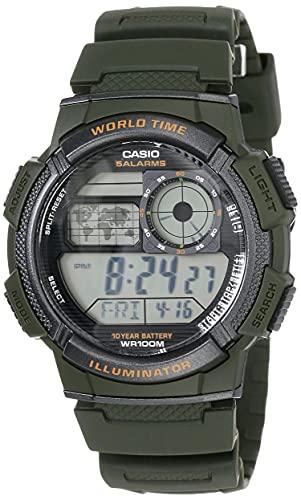 CASIO - Sveglia con movimento al quarzo giapponese, per uomo, Ae-1000W-3Avdf, diametro: 119 mm