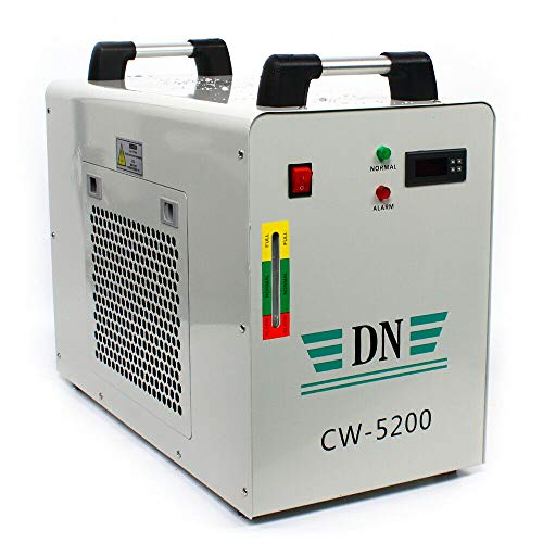 Aohuada 8L Industrieller Wasserkühler Water Chiller Wasserkühlung CW-5200 Thermolysis Industrial Water Cooler Chiller for CNC Engraving Machines CO2 Laser Kühlmaschine 50Hz