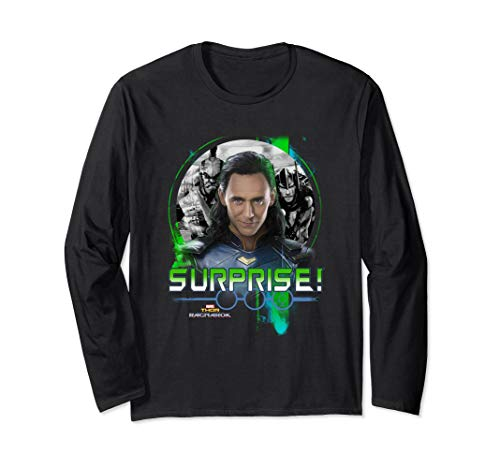 Marvel Thor Ragnarok Loki Surprise Green Pop Long Sleeve