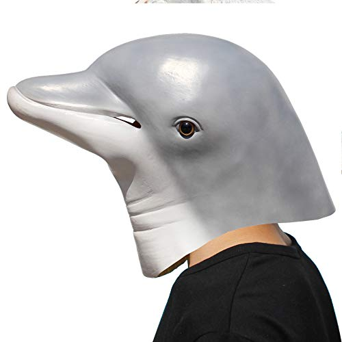 PartyCostume - Delfin Maske - Halloween Party Latex Meer Tiermasken