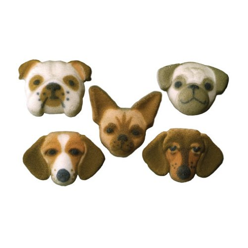 Item#37925 - Small Dog Molded Cake Decorations Cupcake Sugar 1 Limited time for free shipping New popularity