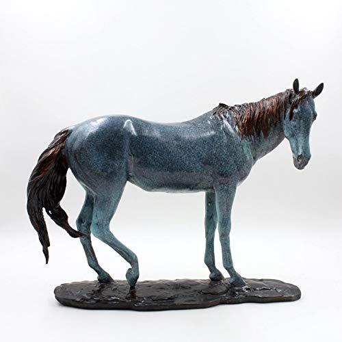 Bronze Pferd (37 cm) Asiatische Pferdeskulptur exzellente Bronze Deko Figur Asien LifeStyle