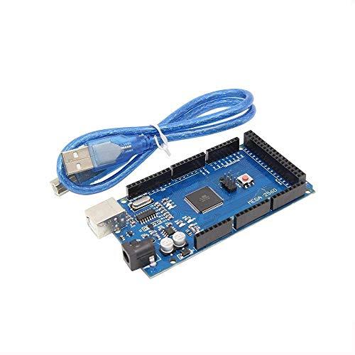 1 Stück MEGA 2560 R3 ATmega2560 R3 AVR USB-Karte + USB-Kabel für Arduino 2560 MEGA2560 R3 für 3D-Drucker 3D-Druckzubehör