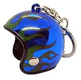 Llavero casco de moto deportivo con dibujos animados superhéroe, regalo, joyeria fuego