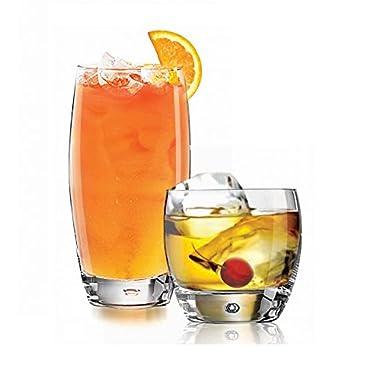 Luminarc Oxygen Mixed Drinking Glasses Beverage Glass Set (16 pc. set)