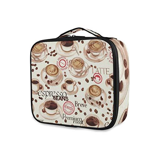 Stockage Café Thé Temps Trousse De Toilette Voyage Organisateur Portable Outils Cosmétique Train Case Maquillage Sac