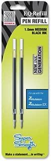 Zebra Pen - Z-Mulsion Ex Refills, 1.0 mm, 2/PK, Black, Sold as 1 Package, ZEB 87312