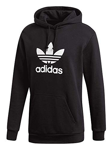adidas Trefoil Logo - Sudadera con capucha para mujer negro XXL