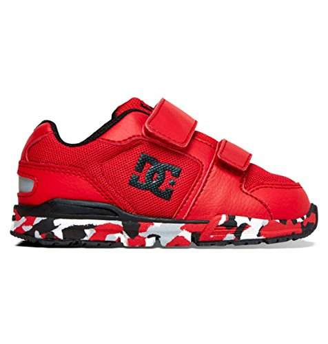 DC Shoes Baby-Girls Shoes Forter V - Low-Top Shoes - Toddler - US 10 - Red Athletic Red US 10 / UK 9 / EU 27