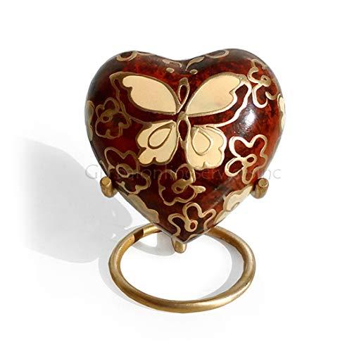 Papillon doré, urnes funéraires Papillon Petit Coeur Urne funéraire pour cendres