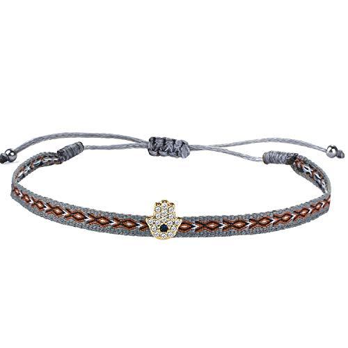 KELITCH Miyuki Seed Bracelets Perlés Vague Forme Wrap Bracelets Bracelets D'amitié À La Main Bracelets (Bleu 4a)