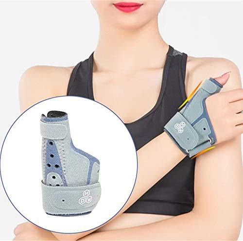 QHGao 3D Ademend Verstelbare Duim Stabilisator, Trigger Duim Ondersteuning Fixture, Ring Staal Bar, Versterkte En Vast, Sprained Pols Tube, Licht Gewicht, Ademend
