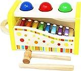 TOWO Juguete Musical Martillo y Pelotas - Instrumento Musical de Juguete de Madera de xilófono para bebes - Juguete de Martillo y percusión Infantil - Juguete Montessori para niñas