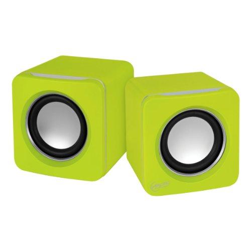 ARCTIC S111 BT - Casse portatili con connessione USB, Mini altoparlanti con alta qualità sonora per PC, desktop o laptop, durata della batteria fino a 12 ore, bassi potenti e design compatto - Verde